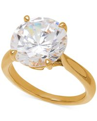 Arabella | Metallic Swarovski Zirconia Cocktail Ring In 14k Gold Over Sterling Silver | Lyst
