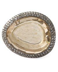 Rosa Maria - Metallic 'Peronne' Ring - Lyst