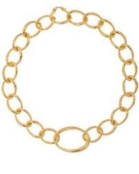 Dinny Hall | Metallic Gold Vermeil Wave Large Link Necklace | Lyst