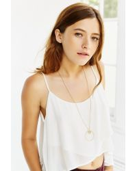 Urban Outfitters - Metallic Anya Crystal Ring Necklace - Lyst