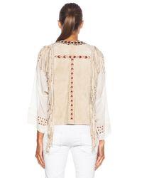 Isabel Marant | White Maxime Embroidered Velvet Vest | Lyst