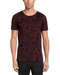 HUGO Red 'daisley' | Cotton Paisley T-shirt for men
