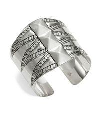 R.j. Graziano | Metallic Etched Cuff Bracelet | Lyst