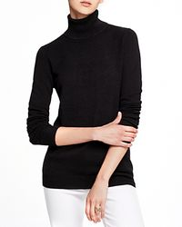 C By Bloomingdale's - Gray Turtleneck Cashmere Sweater - Lyst