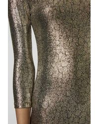 TOPSHOP Metallic Snake Foil Mini Bodycon Dress