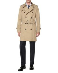 Aquascutum Brown Corby Double Breasted Raincoat for men