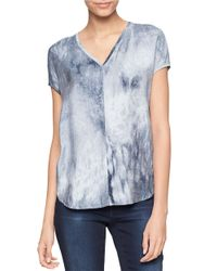 Calvin Klein Jeans | Blue Abstract Print Top | Lyst