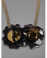 Marni - Metallic Floral Necklace - Lyst