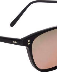 Oliver Peoples Black Maslon Sunglasses for men