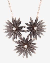 Ted Baker | Black Floria Flower Starburst Necklace | Lyst