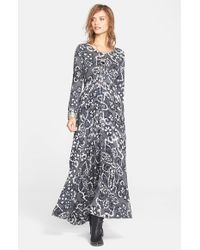 Free People | Gray 'First Kiss' Maxi Dress | Lyst