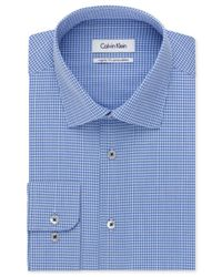 Calvin Klein - Afternoon Sky Blue Check Dress Shirt for Men - Lyst