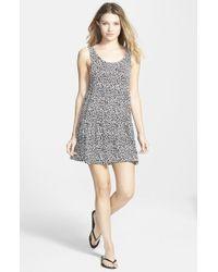 Rip Curl - Black Animal Print Dress - Lyst