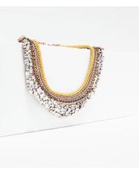 Zara | Multicolor Shiny Crystal Necklace | Lyst