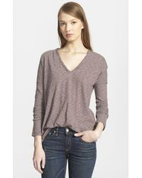 Rag & Bone | Purple 'theo' Long Sleeve Tee | Lyst