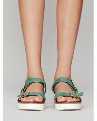 Inuovo Green Paradox Platform Sandal