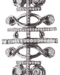 Nikos Koulis - White Diamond Black Diamond Rhodium Ring - Lyst