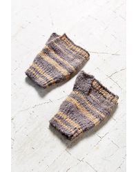 Urban Outfitters Multicolor Boucle Shortie Fingerless Glove