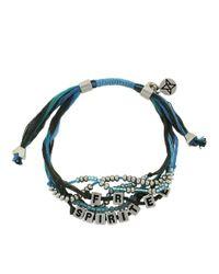 BCBGeneration - Blue Free Spirit Threaded Bead Bracelet - Lyst