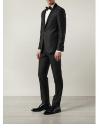 Sand - Gray Two-piece Textured Tuxedo for Men - Lyst