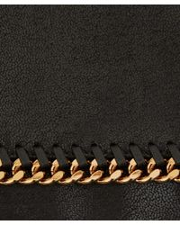 Stella McCartney - Black Falabella Fold-Over Faux Leather Bag - Lyst