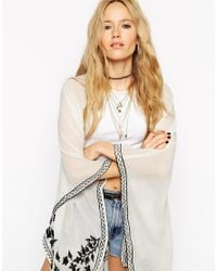 ASOS | Metallic Pyramid Choker And Multirow Charm Necklace | Lyst