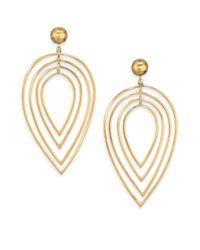 Vaubel | Metallic Tiered Leaf Drop Earrings | Lyst