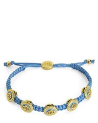 Juicy Couture | Blue Status Coin Friendship Bracelet | Lyst