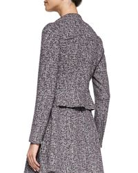 Theory - Multicolor Kinde Front-Zip Tweed Jacket - Lyst