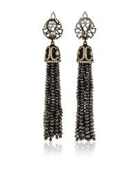 Sutra | Black Diamond Bead Chandelier Earrings | Lyst