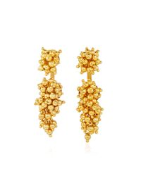 Paula Mendoza | Metallic Gold Plated Two Grapes And Two Mulberries Earrings | Lyst