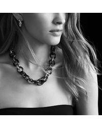 David Yurman - Metallic Sculpted Cable Large Earrings - Lyst