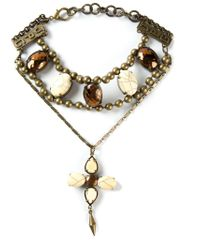Jean Paul Gaultier - Metallic Embellished Necklace - Lyst