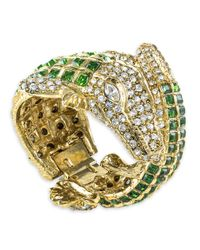 Kenneth Jay Lane | Green Emerald Alligator Bracelet | Lyst
