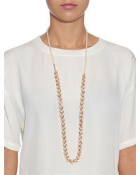 Eddie Borgo | Metallic Pearl And Rose-Gold Plated Necklace | Lyst