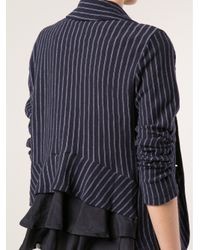 CLU Blue Ruffled Back Blazer