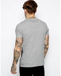 ASOS | Gray T-shirt With Dogtooth Print And Neppy Jersey for Men | Lyst