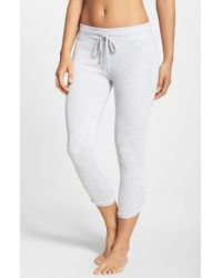 Hard Tail | Gray Side Ruched Capris | Lyst