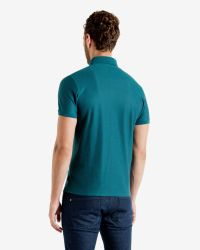 Ted Baker | Blue Geo Textured Polo Shirt for Men | Lyst