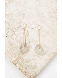Forever 21 - Metallic Faux Stone Drop Earrings - Lyst