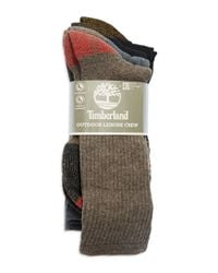 Timberland | Multicolor Four-pack Outdoor Leisure Crew Socks for Men | Lyst