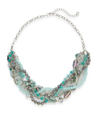 Lydell NYC | Blue Beaded Chain Torsade Necklace | Lyst