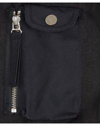 Our Legacy Overdyed Black Flower Bomber Jacket for men