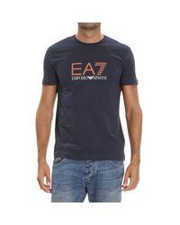 EA7 | Blue T-shirt for Men | Lyst