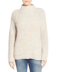 Sanctuary | Metallic Mock Neck Sweater | Lyst