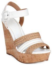 Charles by Charles David Brown Renata Braided Platform Wedge Sandals