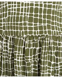 YMC Natural Khaki Giraffe Print Maxi Dress