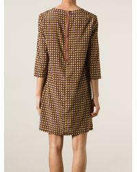 Laura Urbinati Brown Polka Dot Jersey Dress