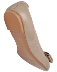 Tory Burch Natural Mayberry Leather Ballet Flat
