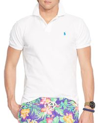 Ralph Lauren | White Polo Mesh Polo Shirt - Classic Fit for Men | Lyst